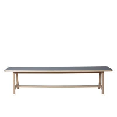 Frame Bench Matt Lacquered Solid Oak, Small