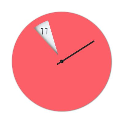 Freakish Wall Clock Pink