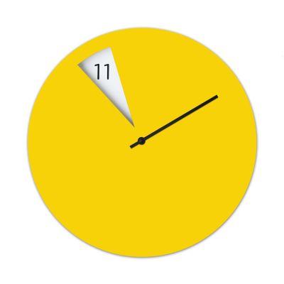 Freakish Wall Clock Yellow
