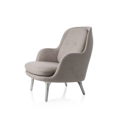 Fri Easy Chair with Brushed Aluminium Legs Balder 3 982