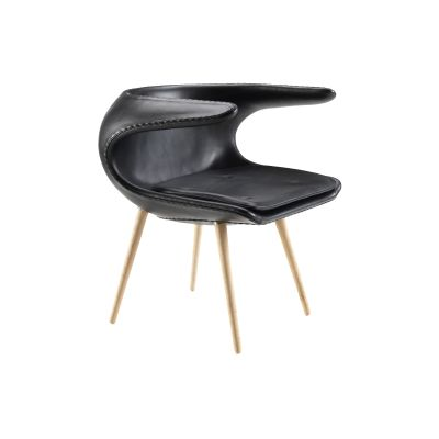 Frost Lounge Chair Leather, Black