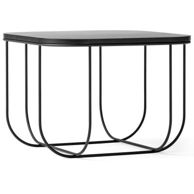 Fuwl Cage Side Table Black/Black Ash