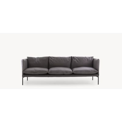 Gentry Extra Light - Sofa 3 seater People for Gentry 4 Big Braid graphite, Stainless Steel
