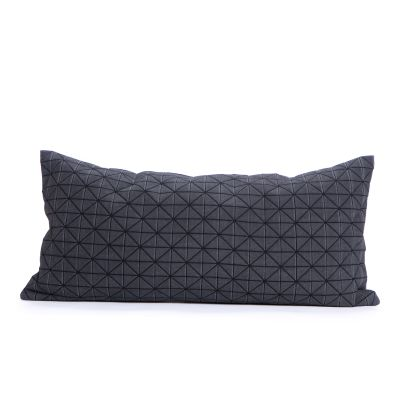 Geo Origami Rectangular Cushion Cover Black