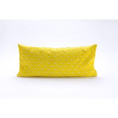 Geo Origami Rectangular Cushion Cover Yellow