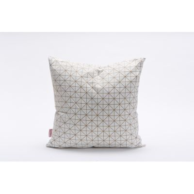 Geo Origami Square Cushion Cover White&Sand