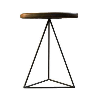 Geometric Table / Stool Walnut
