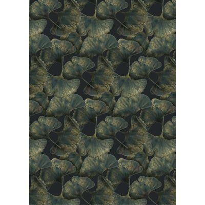 Ginko Leaf Rug, Rectangular Green, Wool, 200x300 cm