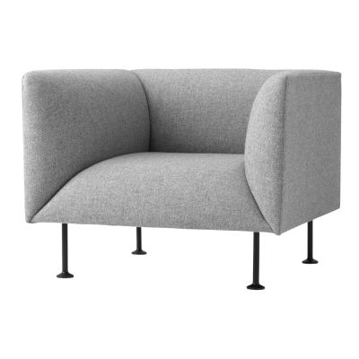 Godot Armchair A4289 - Surfaces 1 Remix 133 grey (Redondo)