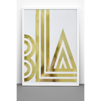 Gold Foil BLA / SMALL TALK print Gold Foil BLA / SMALL TALK print