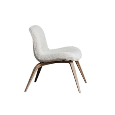 Goose Lounge Chair Norr11 Oak Nature, Norr11 Sheepskin Off White