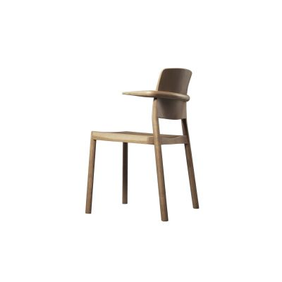 Grace Armchair, Stackable Ash Wood Natural Lacquer