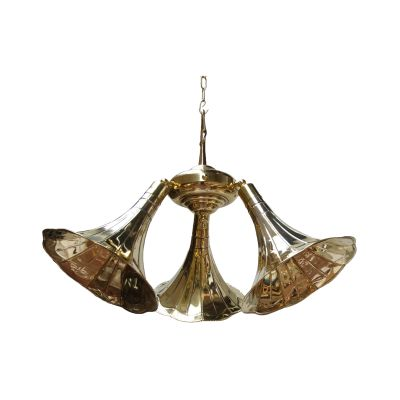 Gramophone Chandelier Polished Brass