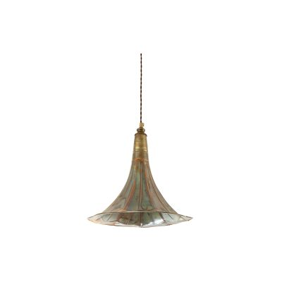Gramophone Pendant Light Polished Brass