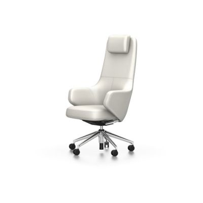 Grand Executive Highback Leather Premium 72 snow, 02 castors hard