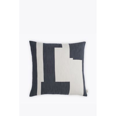 Graphic Square Cushion Marine Blue, Large