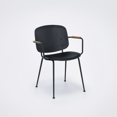 Grapp Dining Chair With Armrests Black Leather