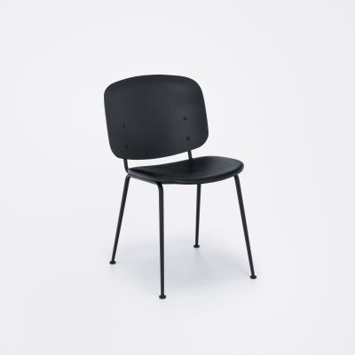 Grapp Dining Chair Without Armrests Black Leather