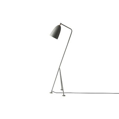 Gräshoppa Floor Lamp Gubi Metal Blue Grey
