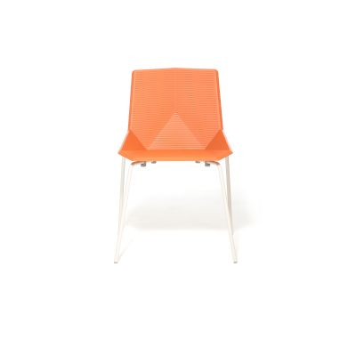 Green Colors Metal Dining Chair Orange