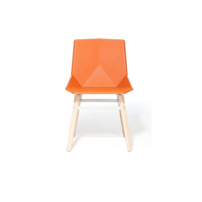 Green Colors Wooden Dining Chair Orange