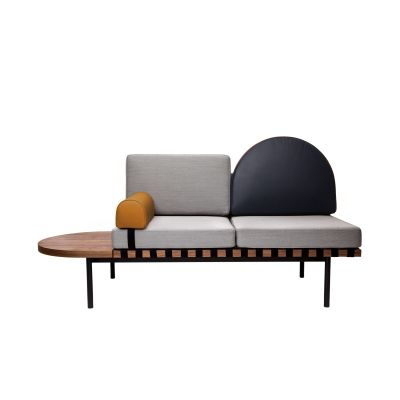 Grid Daybed Field 132 grey , Field, Field, Oak