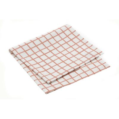 Grid Napkin - Set of 10 Grid Peach