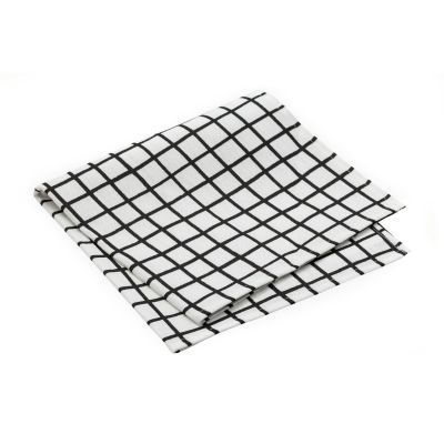 Grid Napkin - Set of 10 Grid Black