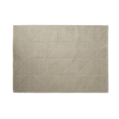 Gridwork Cream Wool Rug Gridwork Cream Wool Rug