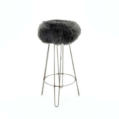 Griff Baa Bar Stool  Slate Grey
