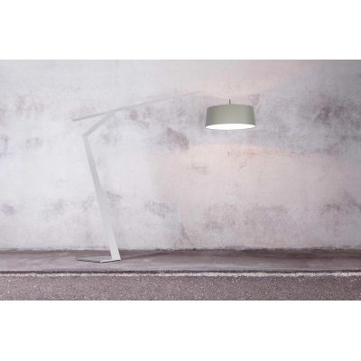 Grus Floor Lamp W Sage,  123 Pearl Grey