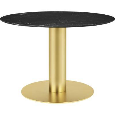 Gubi 2.0 Round Dining Table - Marble Gubi Metal Black, Gubi Marble Nero Marquina, Ø150