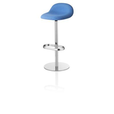 Gubi 3D Counter Stool Swivel Base - Fully Upholstered Dunes 21000 Cognac