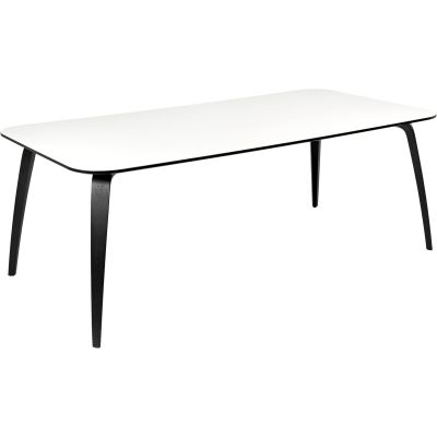 Gubi Dining Table - Rectangular – Marble Bianco Carrara, Oak
