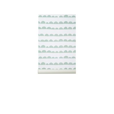 Half Moon Wallpaper - Set of 3 Rolls Mint
