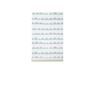 Half Moon Wallpaper - Set of 3 Rolls Mint