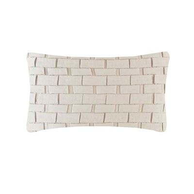 Hand Pleated Rectangular Origami Cushion Ivory