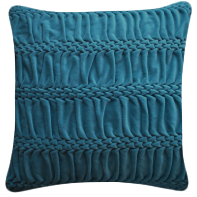 Hand Stitched Striped Wave Signature Cushion Teal