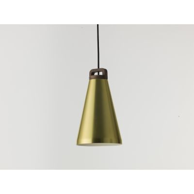 Handle Narrow Pendant Light H17 Handle Pendant lamp Brass/Walnut Narrow