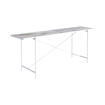 Handvärk Console Table Grey Marble, Black Base