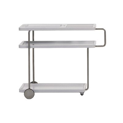Happy Hour Trolley Service Table, White