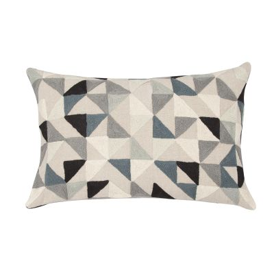 Harlequin Rectangular Linen Cushion Grey