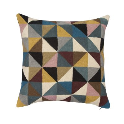 Harlequin Square Linen Cushion Multicoloured
