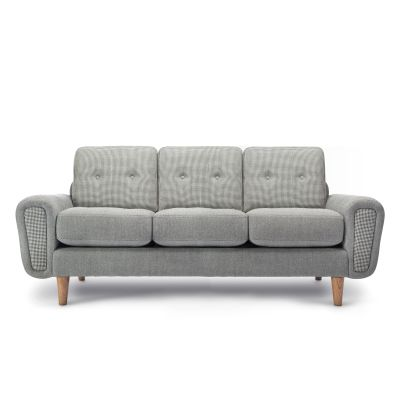 Harvey 3 Seater Sofa - Deadgood Rivet Tensile EGL20, Oak