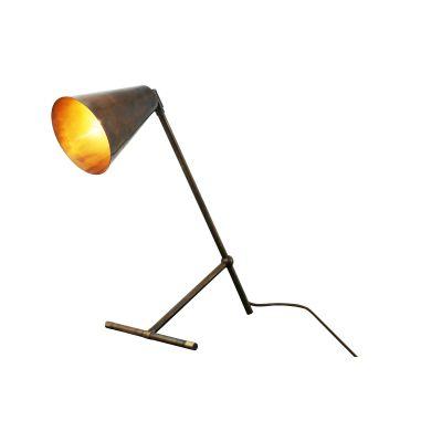 Havana Table Lamp Satin Brass, UL Plug