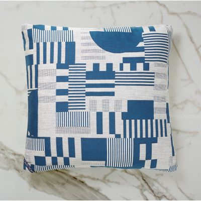 HAYWARD WOVEN DAY CUSHION | BLUE