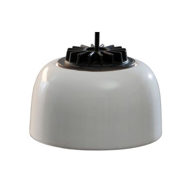 HeadHat Bowl Pendant Light Large, White built-in - Not Dimmable, White opal glass, 800