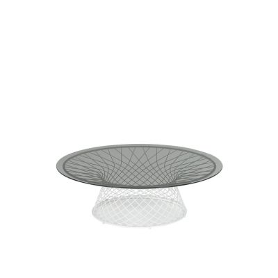 Heaven Round Coffee Table Aluminium 20, Transparent 00