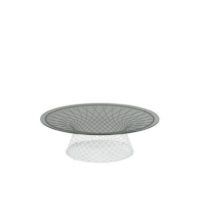 Heaven Round Coffee Table Aluminium 20, Transparent 00