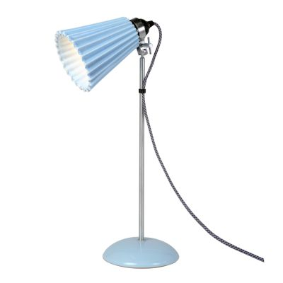 Hector Medium Pleat Table Lamp Light Blue